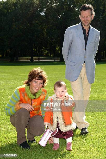 Princess Martha Louise Of Norway Ari Behn Their Daughter Maud Angelica Attend A Press Meeting In Central Park To Mark Their Move To New York