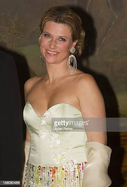 Princess Martha Louise Of Norway Attending An Official Dinner At The Royal Palace In Oslo Hosted By King Harald And Queen Sonja Of Norway