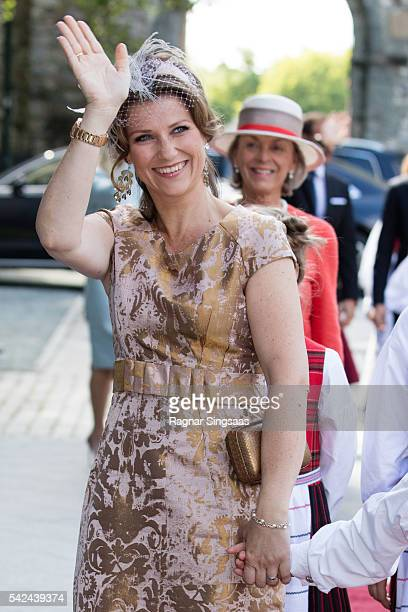Princess Martha Louise of Norway attends a celebratory church service in the Nidaros Cathedral during the Royal Silver Jubilee Tour on June 23 2016...