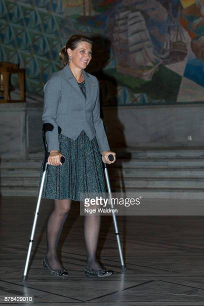 Princess Martha Louise of Norway attends the 100 years celebration for the association of the people with hearing loss at the Oslo City Hall on...