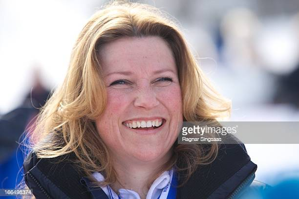 Princess Martha Louise of Norway attends the 50th Ridderrenn skiing competition for the visually impaired on April 13 2013 in Beitostoelen Norway
