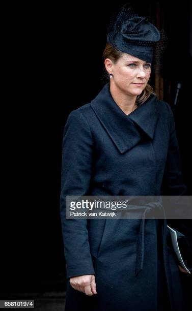 Princess Martha Louise of Norway attends the funeral of Prince Richard at the Evangelische Stadtkirche on March 21, 2017 in Bad Berleburg, Germany....