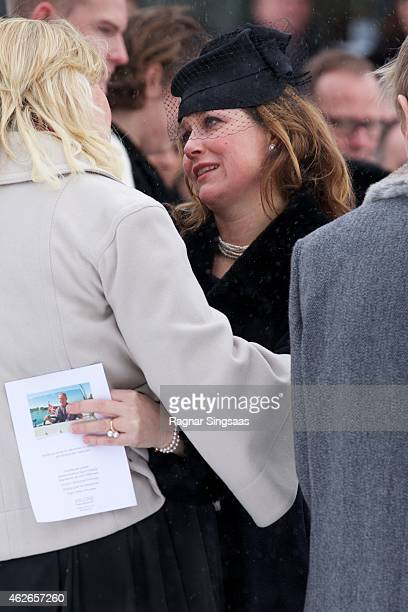 Princess Martha Louise of Norway attends the Funeral Service of Mr Johan Martin Ferner on February 2, 2015 in Oslo, Norway.