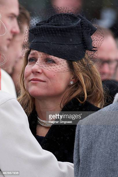 Princess Martha Louise of Norway attends the Funeral Service of Mr Johan Martin Ferner, on February 2, 2015 in Oslo, Norway.