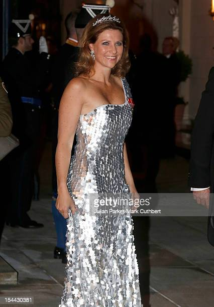 Princess Martha Louise of Norway attends the Gala dinner for the wedding of Prince Guillaume Of Luxembourg and Stephanie de Lannoy at the Grandducal...