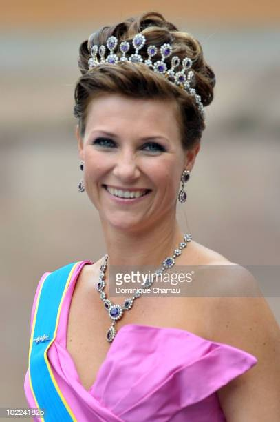 Princess Martha Louise of Norway attends the wedding of Crown Princess Victoria of Sweden and Daniel Westling on June 19 2010 in Stockholm Sweden