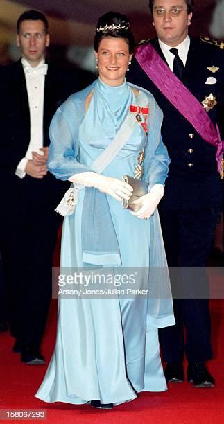 Princess Martha Louise Of Norway Attends The Wedding Of Prince Joachim & Princess Alexandra Of Denmark At Frederiksborg Castle. .