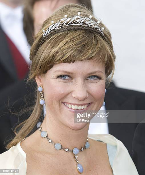 Princess Martha Louise Of Norway Attends The Wedding Of Prince Joachim Of Denmark And Miss Marie Cavallier At Mogeltonder Church In Mogeltonder,...