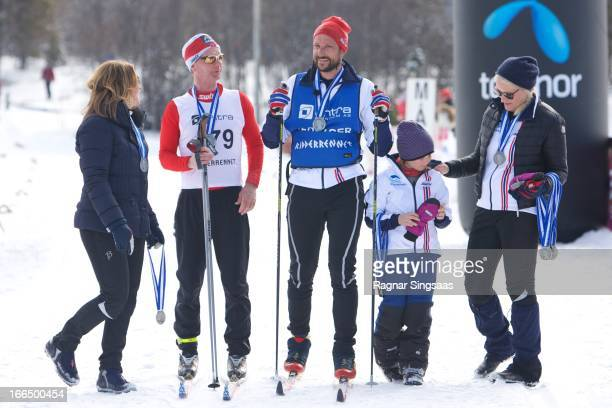 Princess Martha Louise of Norway Helge Flo Prince Haakon of Norway Princess Ingrid Alexandra of Norway and Princess MetteMarit of Norway attend the...