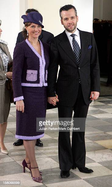 Princess Martha Louise Of Norway Husband Ari Behn Attend The Christening Of Crown Prince Frederik Crown Princess Mary Of Denmark'S Son Christian...
