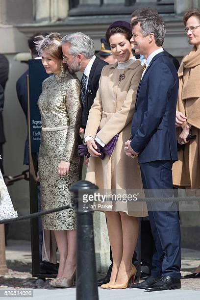 Princess Martha Louise of Norway husband Ari Behn Crown Princess Mary and Crown Prince Frederik of Denmark attend The Swedish Armed Forces...