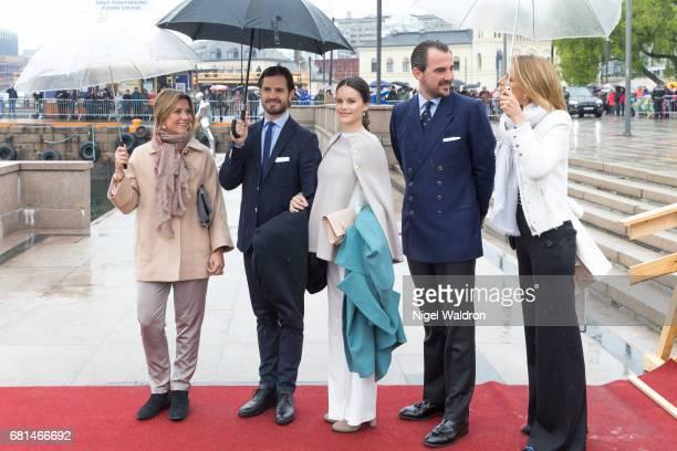 Princess Martha Louise of Norway Prince Carl Philip of Sweden Princess Sofia of Sweden Prince Nikolaos of Greece Princess Tatiana of Greece attend a...
