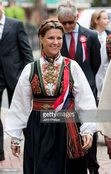 Princess Martha Louise of Norway takes part in a parade in Southwark Park as she celebrates Norway National Day on May 17 2013 in London England