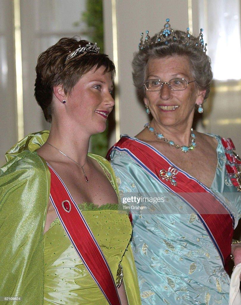 Princess Martha Louise  And Princess Astrid Of Norway : News Photo