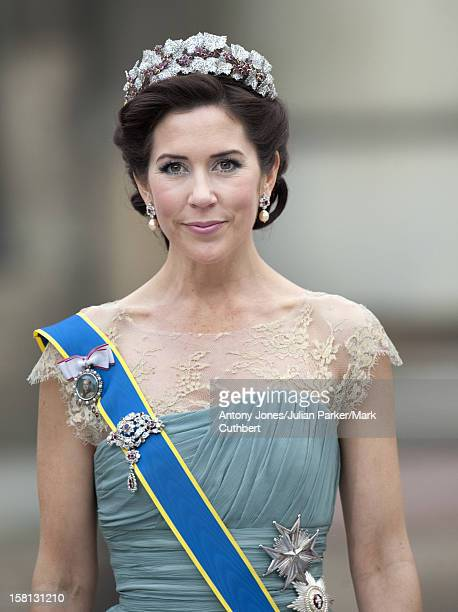 Princess Mary At The Wedding Of Crown Princess Victoria Of Sweden And Daniel Westling At Stockholm Cathedral.