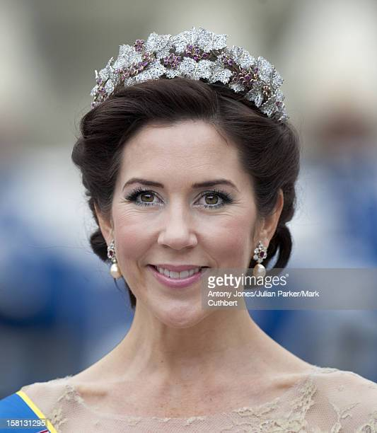 Princess Mary At The Wedding Of Crown Princess Victoria Of Sweden And Daniel Westling At Stockholm Cathedral