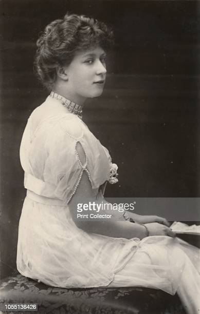 Princess Mary', circa 1915. Mary, Princess Royal , daughter of King George V and Queen Mary of Teck, wearing a pearl-trimmed dress.. [J. Beagles &...