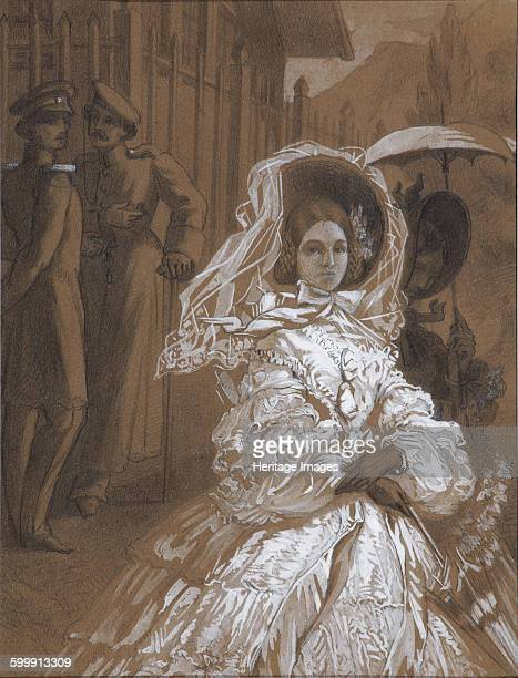 Princess Mary Illustration to the novel A Hero of Our Time by Mikhail Lermontov 1862 Found in the collection of State Russian Museum St Petersburg...