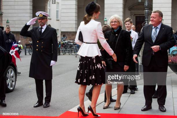 Princess Mary is welcomed to the Parliament by Prime Minister Lars Loekke Rasmussen to celebrate the Reformation's 500th anniversary on October 31...