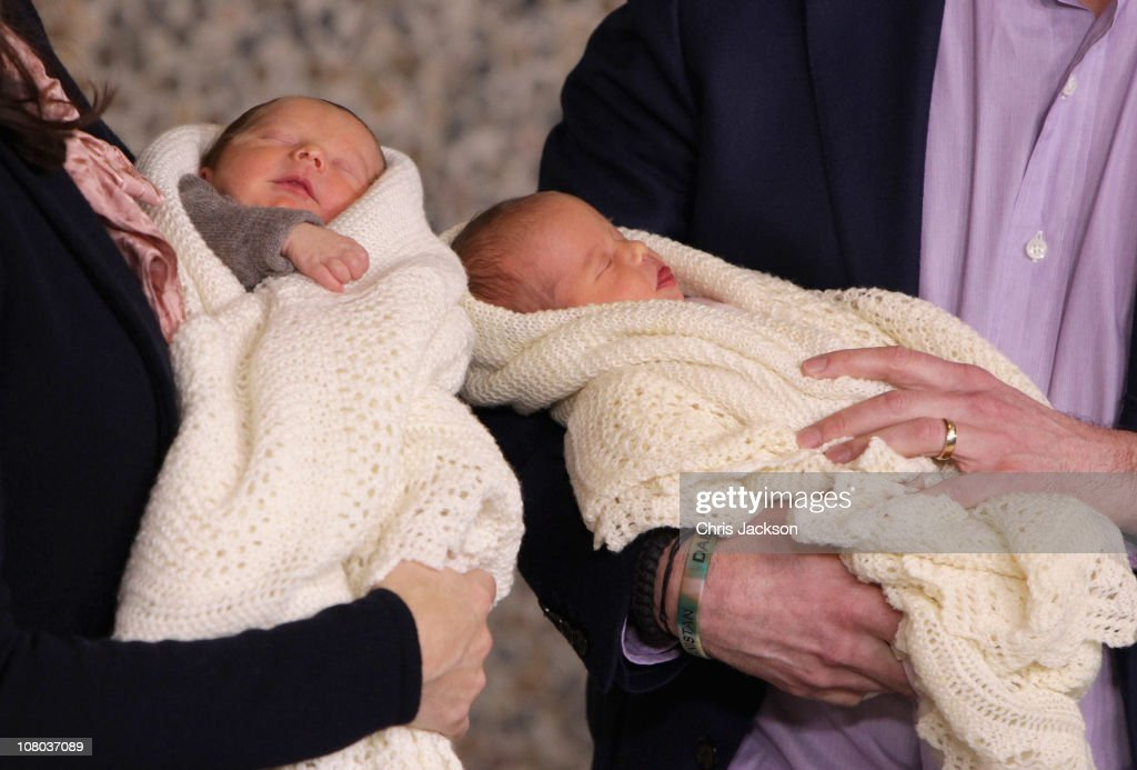 Crown Prince Frederik and Crown Princess Mary of Denmark Introduce Newborn Royal Twins