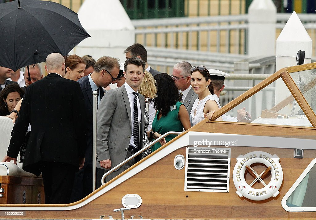 Princess Mary of Denmark and Prince Frederik of Denmark are seen on Sydney Harbour during there Australian visit on November 20, 2011 in Sydney, Australia. Princess Mary and Prince Frederik are on their first official visit to Australia since 2008. The Royal visit begins in Sydney, before heading to Melbourne, Canberra and Broken Hill.