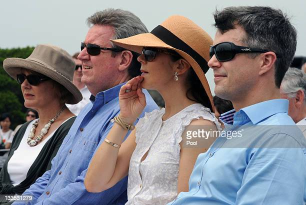 Princess Mary of Denmark and Prince Frederik of Denmark with New South Wales state Premier Barry O'Farrell and his wife Rosemary during the award...
