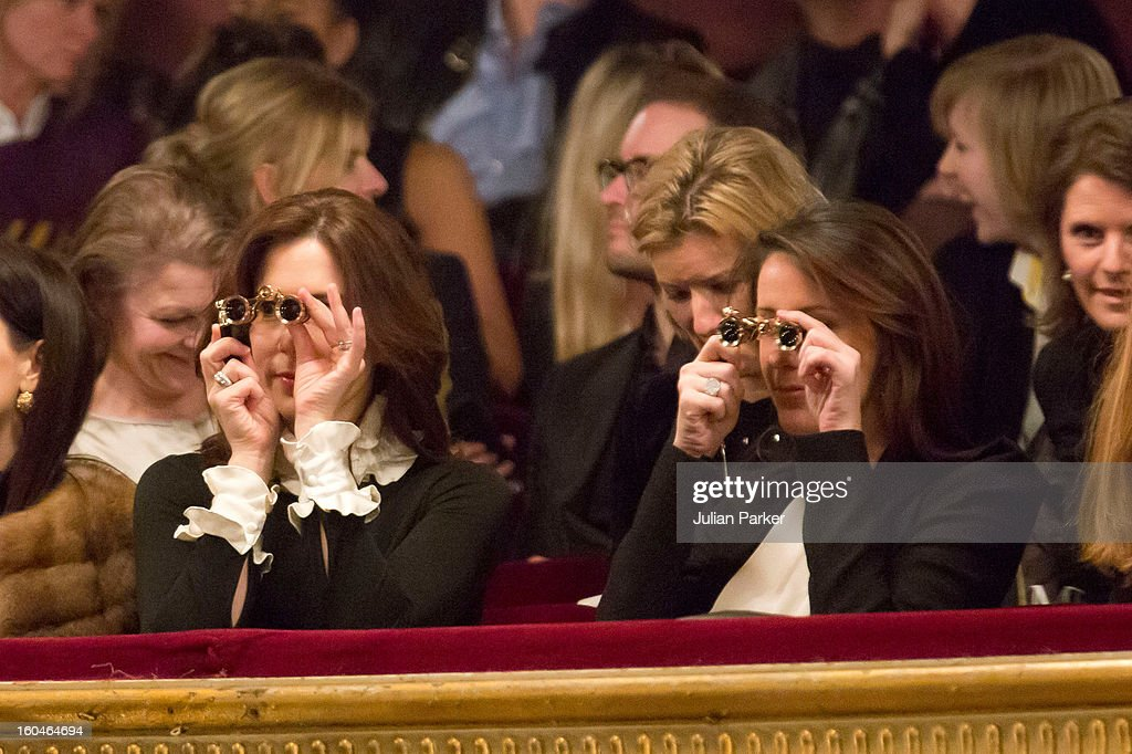 Princess Mary and Princess Marie Of Denmark Attend Malene Birger Show During Copenhagen Fashion Week