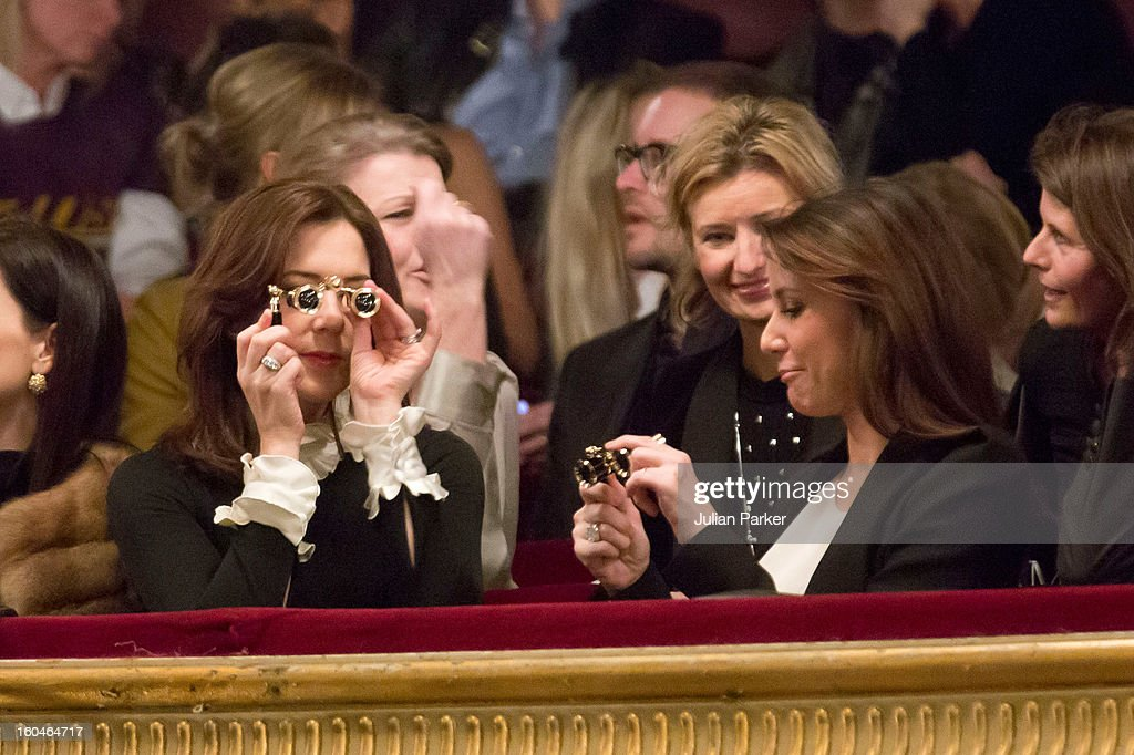 Princess Mary and Princess Marie Of Denmark Attend Malene Birger Show During Copenhagen Fashion Week : News Photo