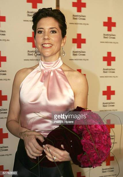 Princess Mary of Denmark arrives at the Australian Red Cross 90th Anniversary Gala at the Westin Hotel March 2 2005 in Sydney Australia