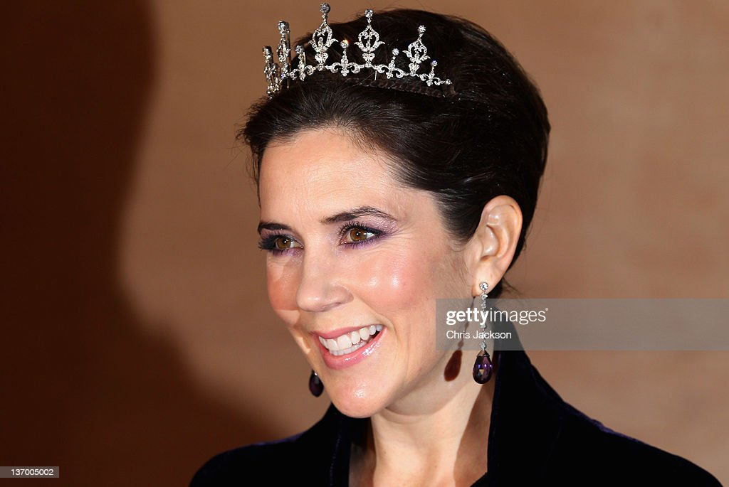 Princess Mary of Denmark arrives for a Gala Performance at the DR Concert Hall to celebrate Queen Margrethe II of Denmark's 40 years on the throne at City Hall on January 14, 2012 in Copenhagen, Denmark.