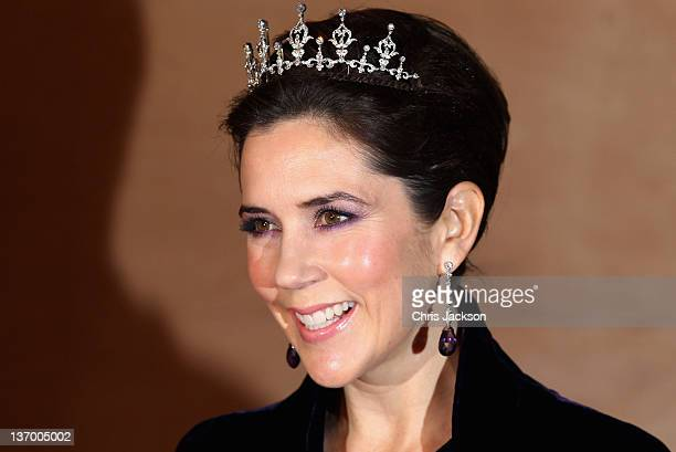 Princess Mary of Denmark arrives for a Gala Performance at the DR Concert Hall to celebrate Queen Margrethe II of Denmark's 40 years on the throne at...