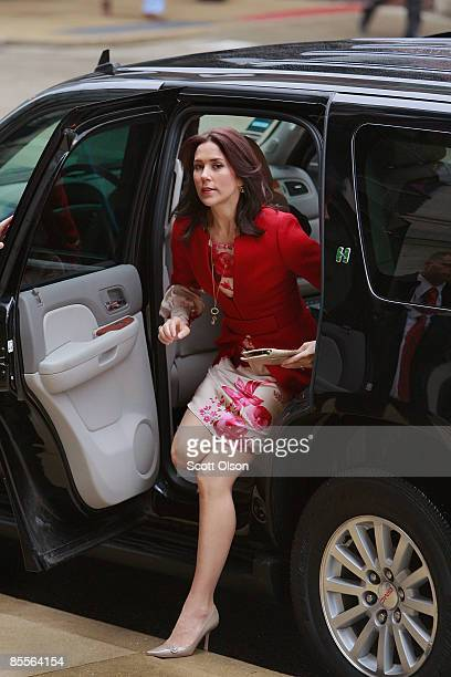Princess Mary of Denmark arrives for the opening of the Climate Energy Conference on March 23 2009 in Chicago Illinois The royal couple is wrapping...