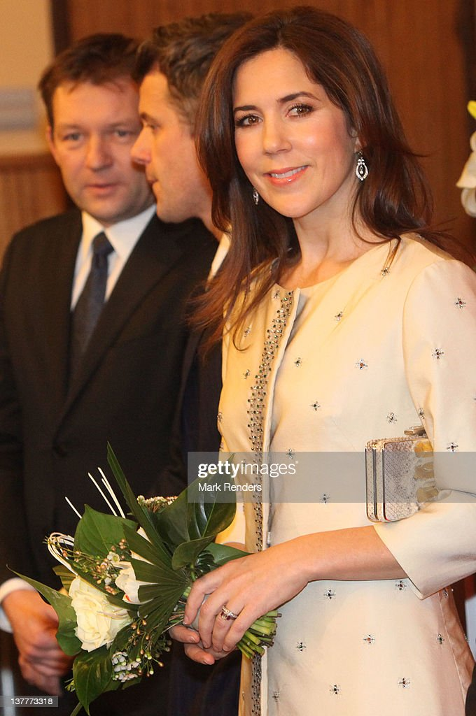 Princess Mary of Denmark attend a concert for Danish EU Presidency celebration at Flagey on January 26, 2012 in Brussel, Belgium.