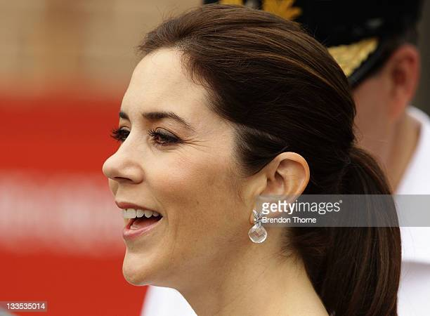 Princess Mary of Denmark attends a BBQ at Garden Island with Australian and Danish business leaders during her Australian visit on November 20 2011...