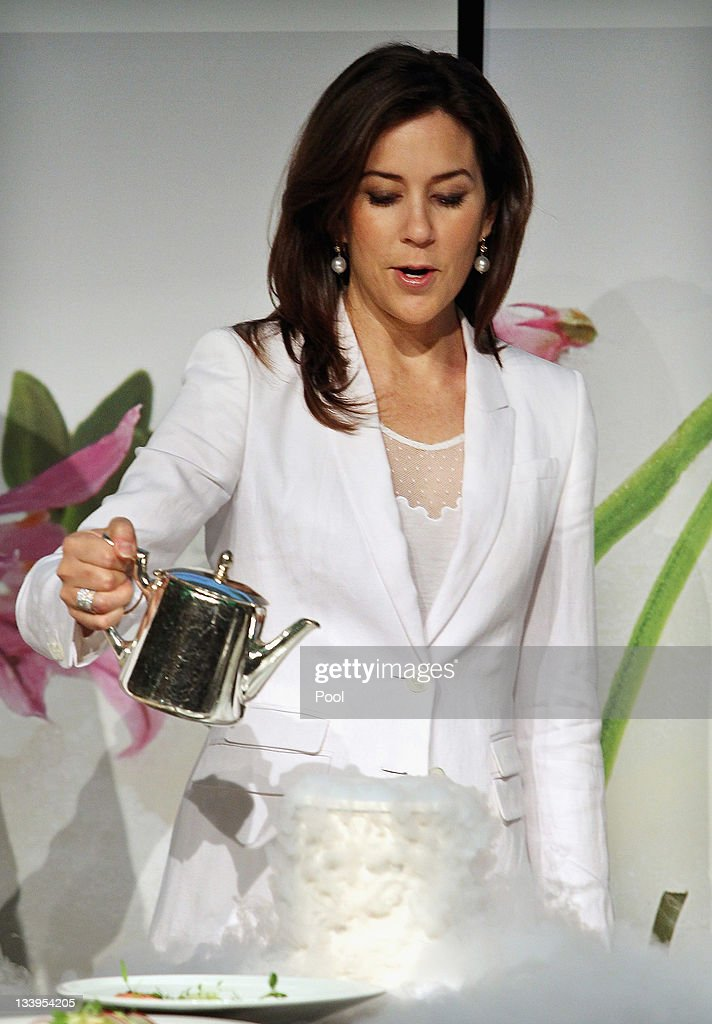 Princess Mary of Denmark attends a Danish Agriculture and Food Council's demonstration with Danish Chef Rasmus Kofoed and chef Matt Moran at the Hotel Sofitel Melbourne on November 23, 2011 in Melbourne, Australia. Princess Mary and Prince Frederik are on their first official visit to Australia since 2008. The Royal visit begins in Sydney, before heading to Melbourne, Canberra and Broken Hill.