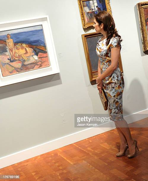 Princess Mary of Denmark attends the AmericanScandinavian Foundation Centennial Exhibition Opening at Scandinavia House on October 20 2011 in New...
