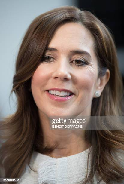 Princess Mary of Denmark attends the European Development Days on June 6 at TourTaxis in Brussels / Belgium OUT