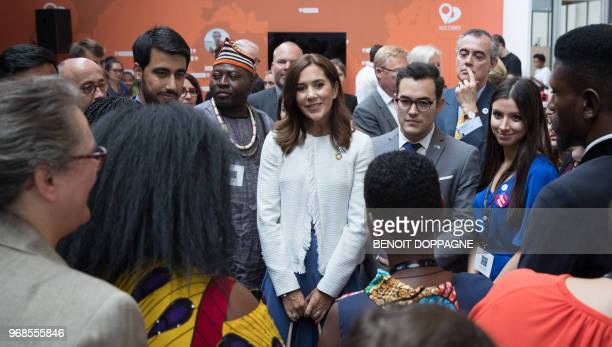 Princess Mary of Denmark attends the 'European Development Days' on June 6 at TourTaxis in Brussels / Belgium OUT