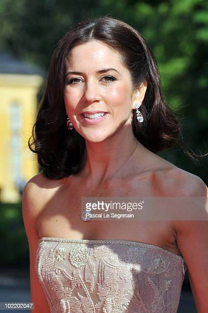 Princess Mary of Denmark attends the Government PreWedding Dinner for Crown Princess Victoria of Sweden and Daniel Westling at The Eric Ericson Hall...