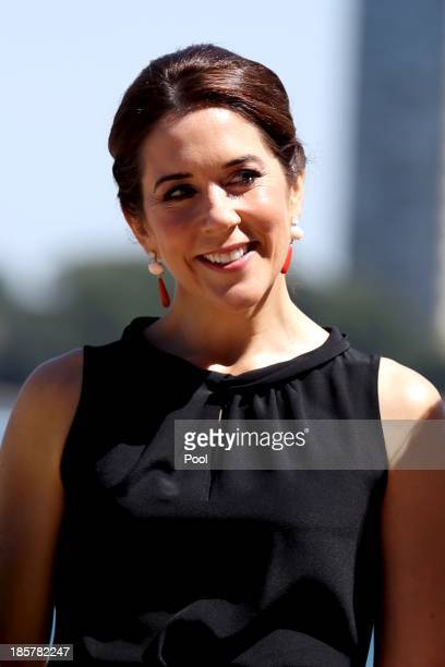 Princess Mary of Denmark attends the launch of 'MADE' and 'Architecture Makes the City' at the Sydney Opera House on October 25 2013 in Sydney...