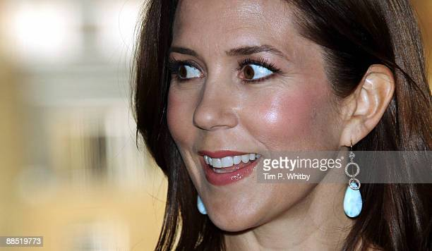 Princess Mary of Denmark attends the official announcement of the UK participants of an international youth conference 'Bright Green Youth' which...
