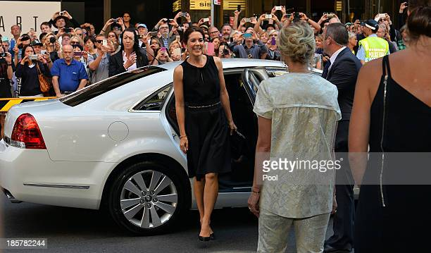 Princess Mary of Denmark attends the official opening of Ole Lynggaard Flagship Store on October 25 2013 in Sydney Australia Prince Frederik and...