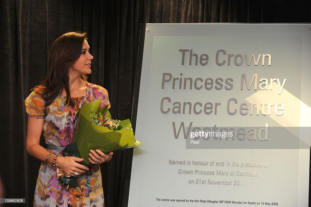 Princess Mary of Denmark looks at the plaque which she unveiled during the renaming of the Westmead Cancer Care Centre to 'The Crown Princess Mary Cancer Centre Westmead' at Westmead Hospital on November 21, 2011 in Sydney, Australia. Princess Mary and Prince Frederik are on their first official visit to Australia since 2008. The Royal visit begins in Sydney, before heading to Melbourne, Canberra and Broken Hill.