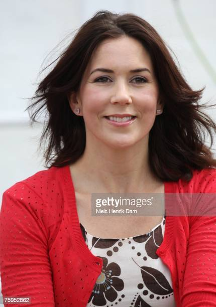 Princess Mary of Denmark poses at a photocall for the Royal Danish family at their summer residence of Grasten Slot on August 3, 2007 in Grasten,...