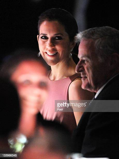 Princess Mary of Denmark speaks to guests at a business delegation dinner on November 23 2011 in Melbourne Australia Princess Mary and Prince...