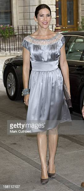 Princess Mary Of Denmark Visits The Royal Academy To Open The 'Hammershoi' Exhibition During Her Official Visit To London
