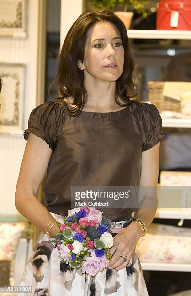 Princess Mary Of Denmark Visits The Summer Fair At The Excel Centre In Londons Docklands London