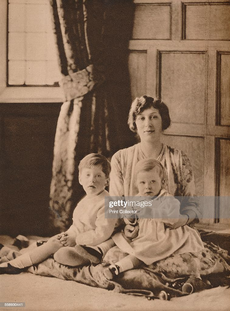 Princess Mary, Viscountess Lascelles, with her two sons, Gerald and George, 1926 (1935). Artist: Unknown. : News Photo