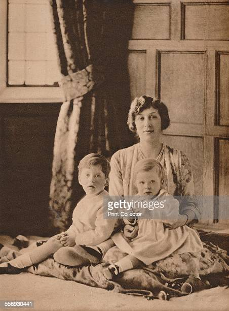 Princess Mary, Viscountess Lascelles, with her two sons, Gerald and George, 1926 . From The Royal Jubilee Book 1910-1935 [Associated Newspapers Ltd.,...