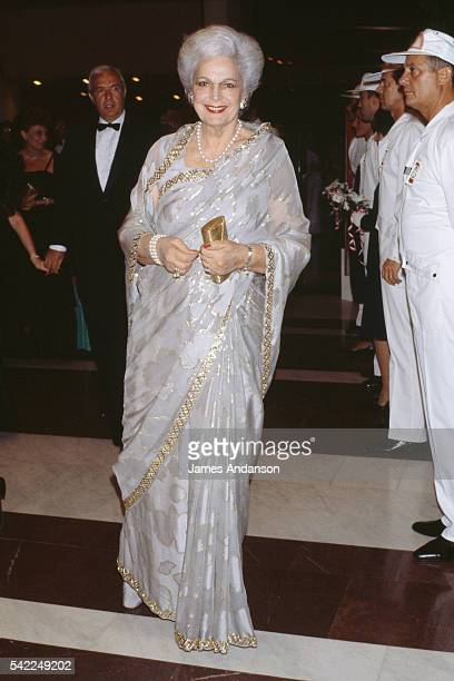 Princess Mat Salamat the Begum Aga Khan wife of Aga Khan III attending the Monaco Red Cross Ball